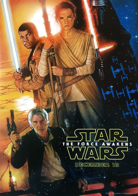 Official Star Wars Episode VII: The Force Awakens Poster ...