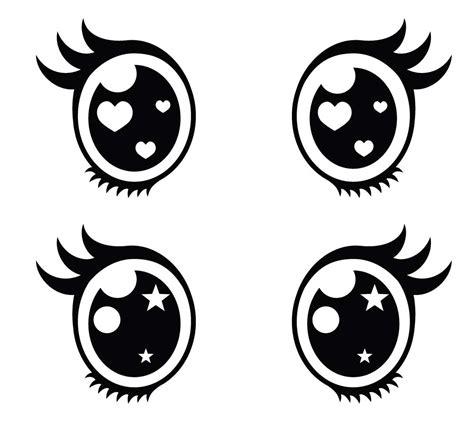 Ojos Kawaii. Imágenes PNG Dibujos para Colorear