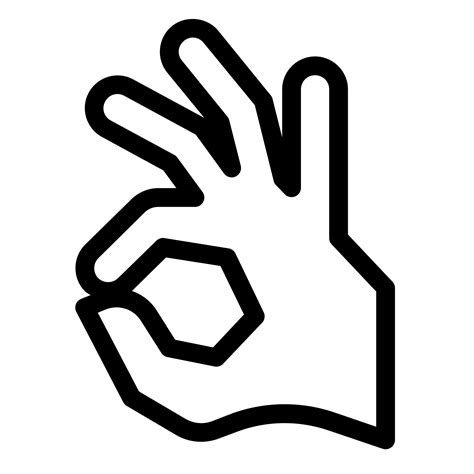 Ok Hand Icon - Free PNG and SVG Download