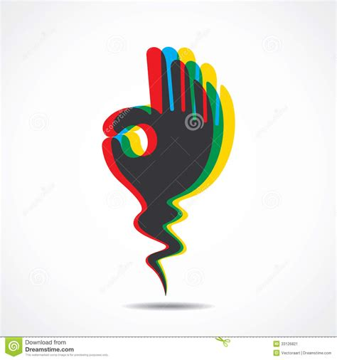 Ok Hand Symbol Stock Image - Image: 33126821