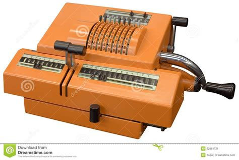 Old calculator stock image. Image of outmoded, isolated ...