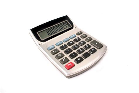 Old Calculator stock image. Image of used, tilting, sums ...