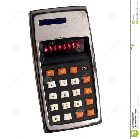 Old Calculator Stock Photography - Image: 420022