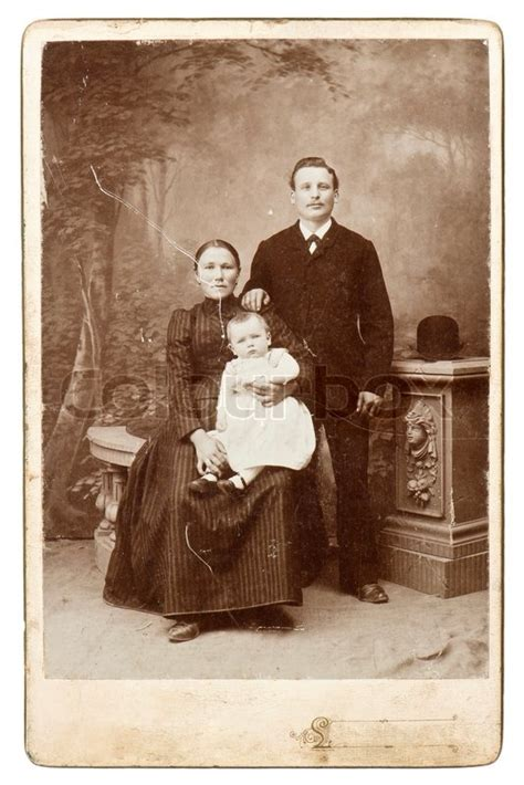 Old family photo vintage background | Stock Photo | Colourbox