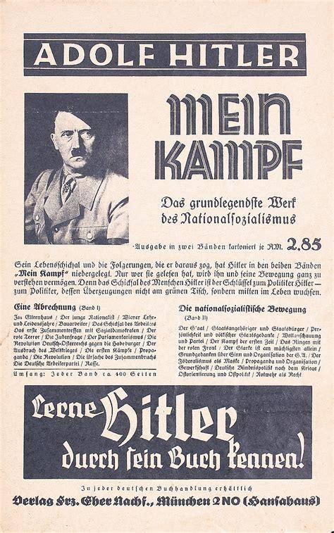 Old Original 1930s Hitler Mein Kampf Poster + Film Poster