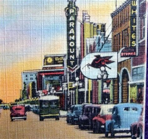 Old POSTCARD Street Scene AMARILLO Texas with Vintage Ads ...