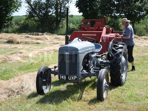 Old vintage little grey fergie ferguson tractor farm ...
