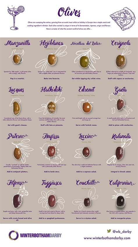 Olive infographic   varieties and how to eat them ...