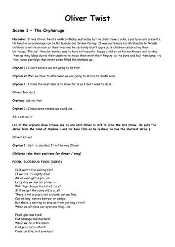 Oliver Twist Playscript by mrichmond - Teaching Resources ...