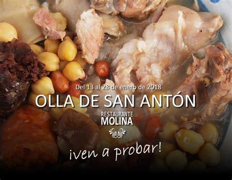 Olla de San Antón 2018   Restaurante Molina en Huétor Vega