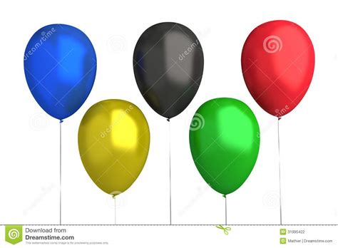 Olympic Games - Balloons : 5 Colors Stock Photo ...