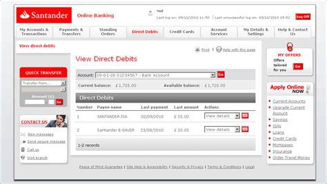 Online bank transfer santander