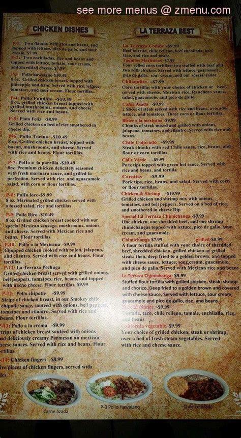 Online Menu of La Terraza Restaurant, Greenwood ...