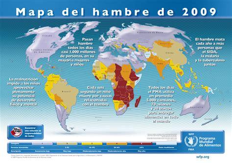 ONU   Mapa mundial del hambre 2009   Info   Taringa!