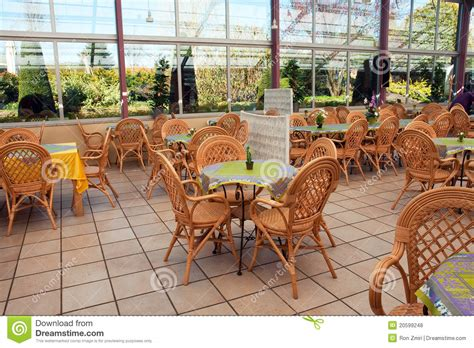 Open Air Beautiful Cafeteria Cafe Restaurant Stock Photo ...