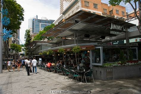 Open air cafe picture. Queen street, Brisbane, Australia
