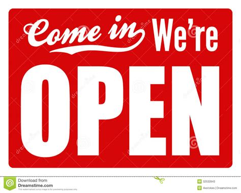 Open Sign - XL Stock Photos - Image: 32532843
