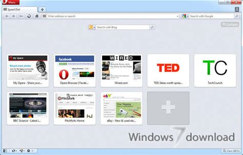 Opera for Windows 7 - Smartest full-featured web browser ...