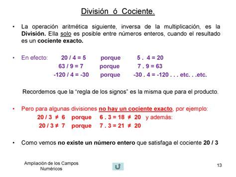 Opiniones de División  matemática
