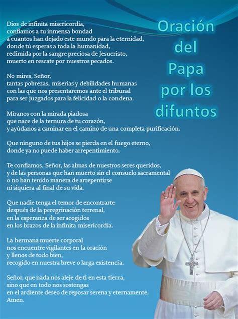 oracion del papa por los difuntos | Pastoral de la salud ...