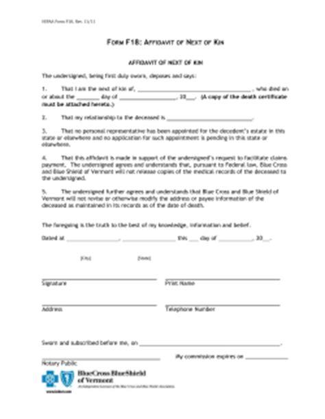 Oregon Inheritance Affidavit Form