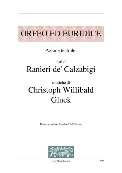 Orfeo, ed Euridice  1762    PDF