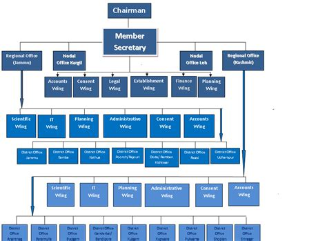 Organizational structure of the company bmw