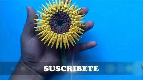 Origami 3D Girasol   YouTube