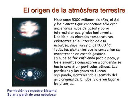 Origen de la atmósfera