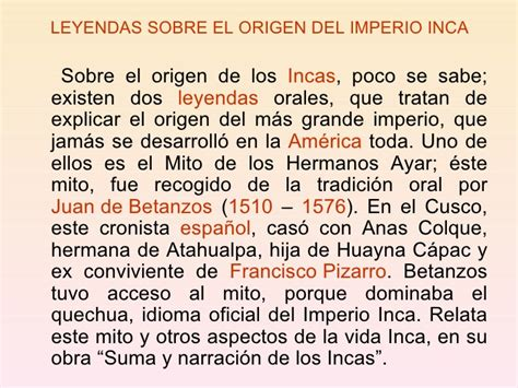 Origen y expanción inca
