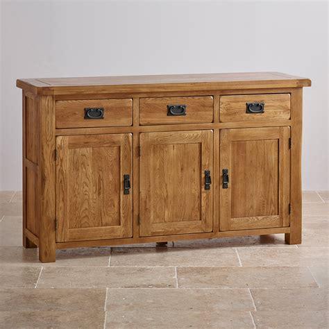 Original Rustic Large Sideboard in Solid Oak   Oak ...