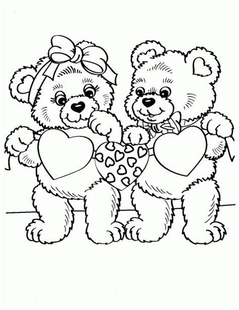 Ositos de amor – Dibujos para colorear | Colorear imágenes