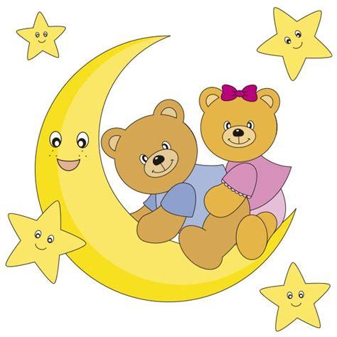 Ositos en la Luna Vinilos decorativos infantiles