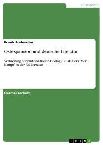 Ostexpansion und deutsche Literatur   Masterarbeit ...