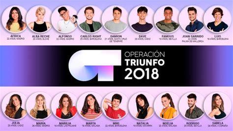 OT 2018: Así son los 18 nuevos concursantes de 'Operación ...
