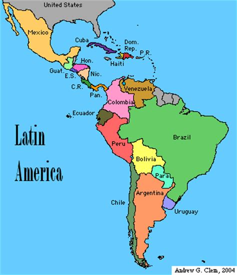 Outline Map 5 Latin America Political