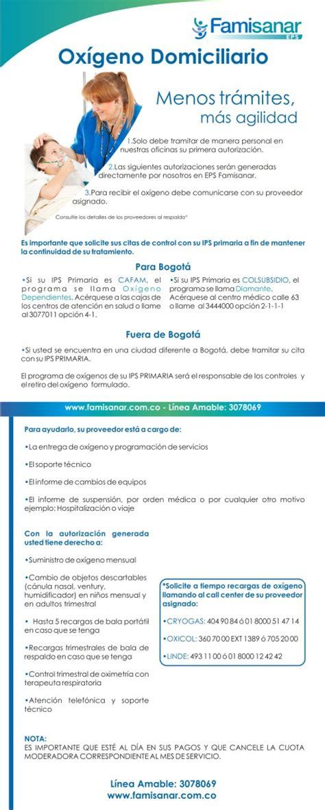 Oxigeno domiciliario | EPS Famisanar