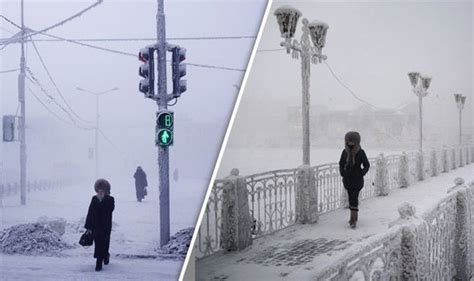 Oymyakon in Russia is the coldest inhabited place on earth ...