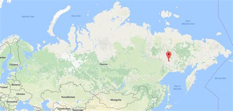 Oymyakon Russia Map Gallery   Diagram Writing Sample And Guide