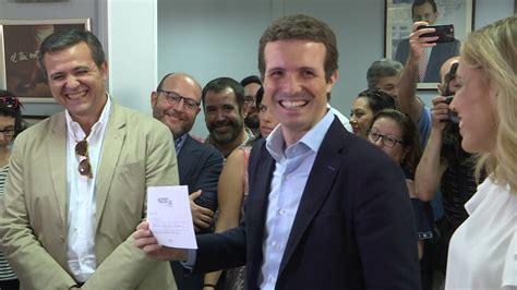 Pablo Casado deposita su voto para las primarias del ...