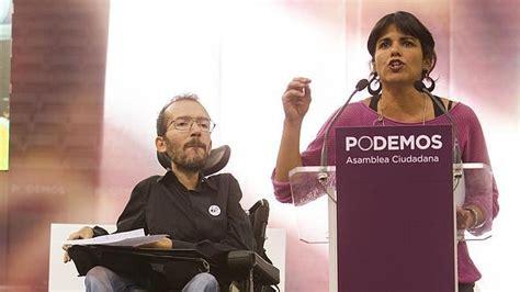 Pablo Echenique y Teresa Rodrguez, durante la Asamblea de ...