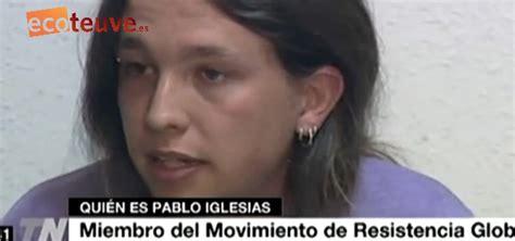 Pablo Iglesias con 20 años