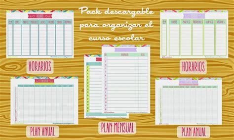 Pack para organizar el curso escolar del blog Lluvia de ...