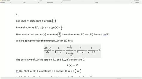 Pack s Maths Classics #4: arctan x  + arctan 1/x    YouTube