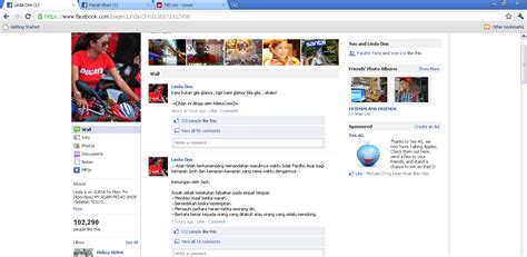 Page Facebook Linda Onn Kena Hack? - Keyboard Exploit