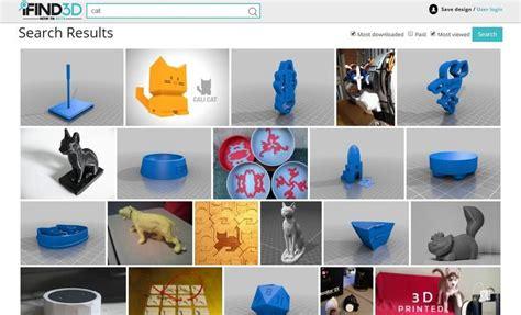 Página para buscar y descargar modelos para impresoras 3D