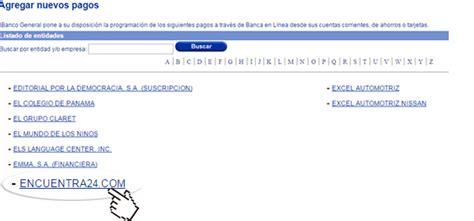 Pago por Banca en línea Banco General – Encuentra24.com