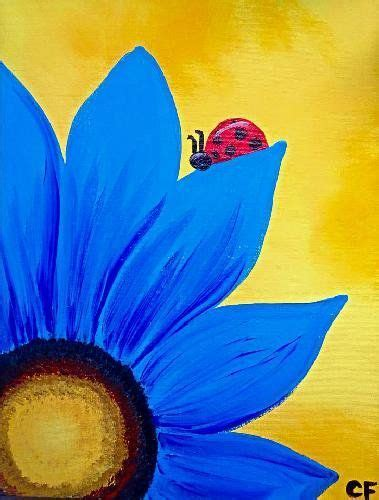 paint night paintings flower - Google Search | paint ideas ...