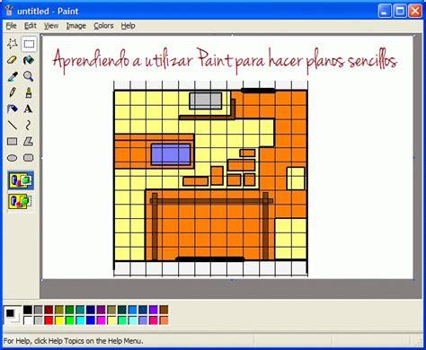 Paint, un programa sencillo para hacer planos   Guia de jardin