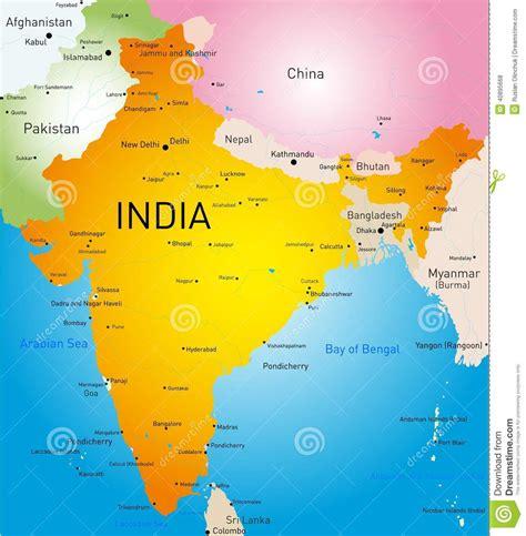 País Da Índia Ilustração do Vetor - Imagem: 40895668